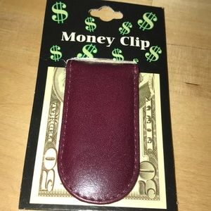 Other - Leather money Clíp